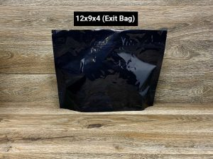 SuperBlack child resistant packaging Custom Stand Up Pouches exit bag
