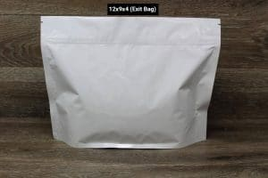 UltraWhite child resistant packaging exit bag