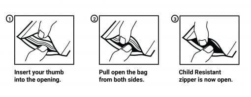 How To Open Child Resistant Pouch Bags